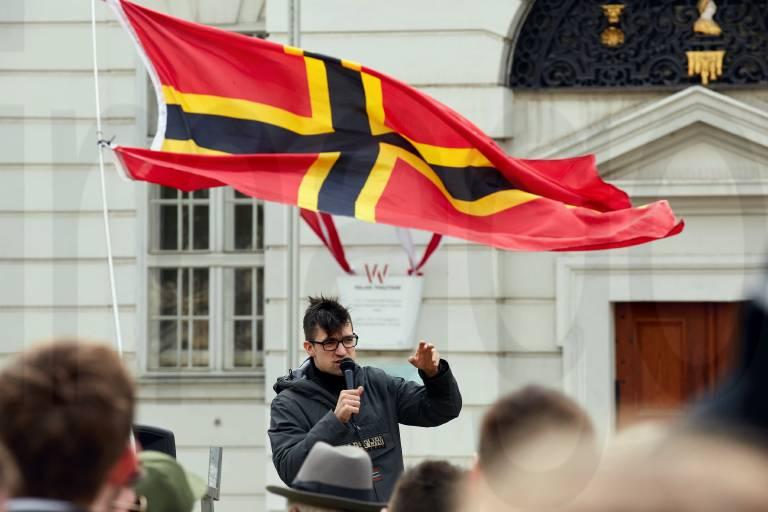 Wien 13 04 2019 Rund 300 Teilnehmer nahmen heute am Nachmittag bei einer angemeldeten Demonstra